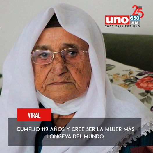 Cumplió 119 años y cree ser la mujer más longeva del mundo
