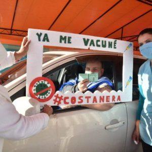 Central logra récord de vacunación en un día contra el Covid-19