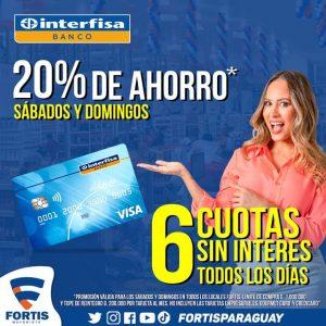 ¿Sabías que con tu tarjeta de crédito del Banco Interfisa tenes 20% de descuento?