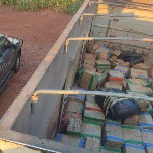 Carreta que seguia para São Paulo com mais de 3 toneladas de maconha foi apreendida pelo DOF
