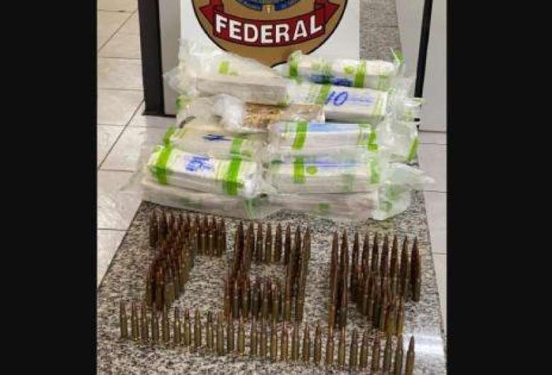 Rapaz que saiu de MS é preso em SP com munições de fuzil e cocaína