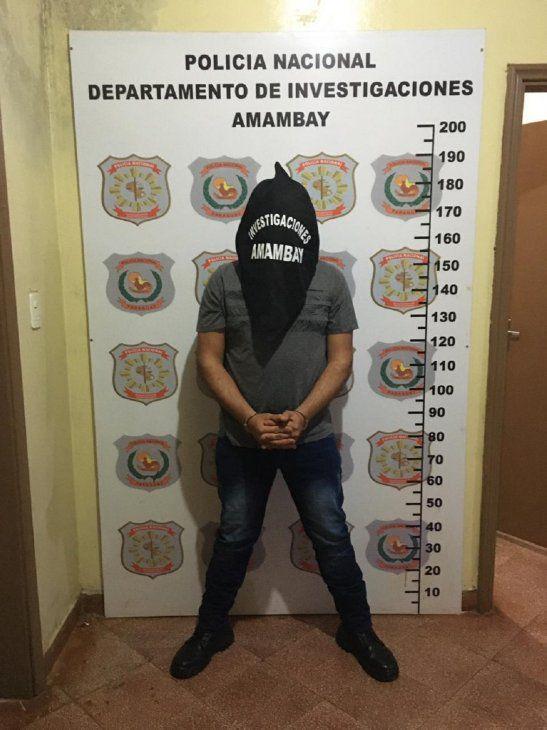 Detienen a guardiacárcel por varios asaltos en Amambay