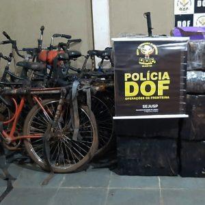Seis bicicletas foram apreendidas com maconha e skank pelo DOF