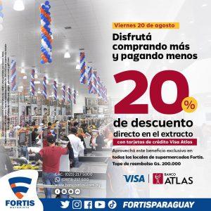 Este viernes ahorrá el 20% en tus compras con tu Tarjeta de Crédito de Atlas!