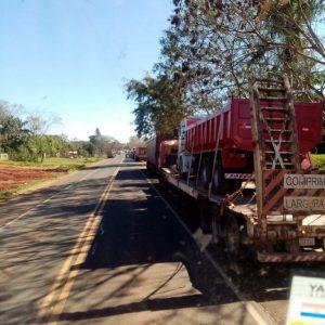 Camioneros movilizados cierran ruta en Santa Rosa del Aguaray