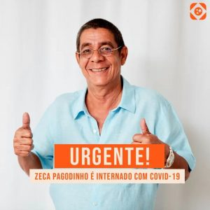 Zeca Pagodinho foi internado no último sábado (14) com sintomas de Covid-19