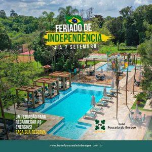 Traga toda a família e venha curtir o feriadão de 7 de setembro no Hotel Pousada do Bosque.