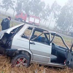 Capotamento mata motorista e deixa feridos entre Amambai e Coronel Sapucaia