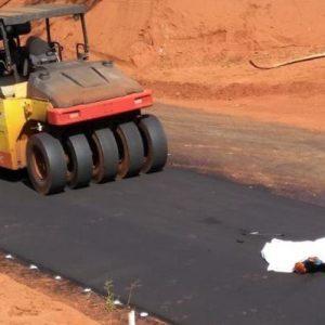 Trabalhador morre atropelado por maquinário durante pavimentação de estrada em MS