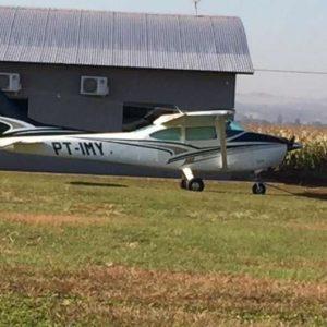 Avião que saiu do Paraguai com mais de 200kg de cocaína é apreendido
