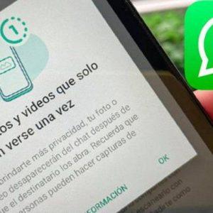 WhatsApp ya permite enviar fotos y videos para ver una sola vez