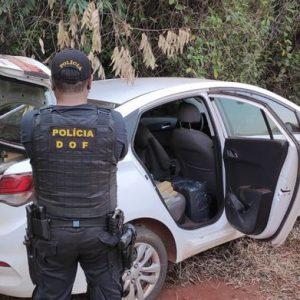 Veículo com mais de 300 quilos de drogas foi apreendido pelo DOF