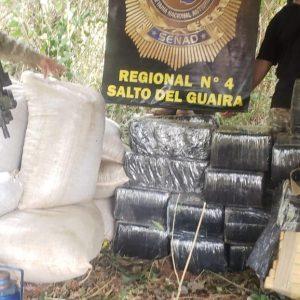 Senad.Salto del Guaira realizaron incautación de marihuana en la reserva MOROMBI DPTO. DE CANINDEYÚ.