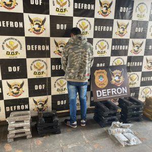 DEFRON, apreende 66 quilos de maconha e 02 de skunk e efetua a prisão de um indivíduo, em Amambai.