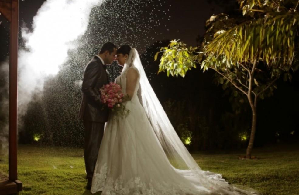 Antes de morrer de câncer, mulher tem o casamento dos sonhos em Campo Grande