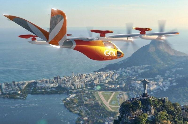 Gol anuncia malha de carros elétricos voadores para 2025