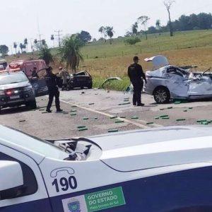 CARRO LOTADO DE MACONHA.Acidente entre Amambai e Tacuru deixa dois mortos e quatro feridos