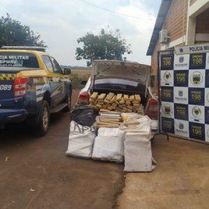 Polícia apreende 297 quilos de maconha após perseguição na BR-463