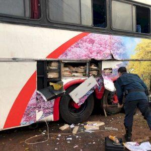 Em Juti, ação conjunta apreende ônibus com mais de uma tonelada de maconha